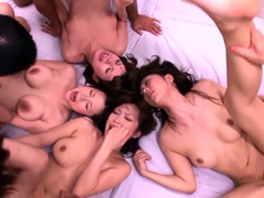 Lustful Japanese couples get together for a wild sex party