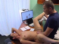 Individual that is brunette gets physicians cock for valida