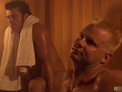 stephanie tripp finds herself in the sauna