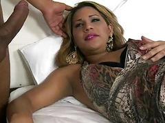 Big tits tranny Suzi Barreto anal banged