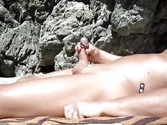 Wanking by the sea