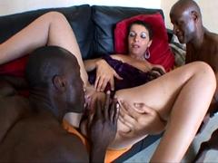 French mature Sophia has tried 2 black cocks