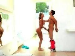 Natalia Starr n Brandi Love sharing cock