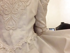 Playing in Wedding Gown 02
