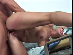 smoking hot blonde whore gets her pink snatch fucked