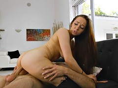 jessie lynne rides his schlong with her tight pussy