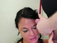 Cat bondage and extreme deep throat Talent Ho