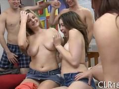 College chicks banged in a small dorm room