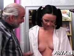Teen thraldom porn clip scene in non-professional scenes
