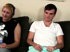 Straight dudes masturbate together