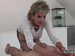 Unfaithful british mature lady sonia reveals her huge tits