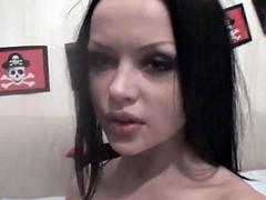 Devils halloween girl cam show