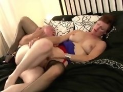 British mature in stockings gets d Wanetta from 1fuckdatecom