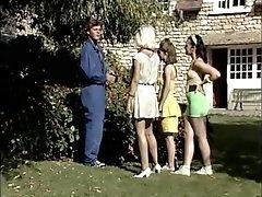 Three Retro Teen Sluts Wanna Share Thick Boner Outdoor
