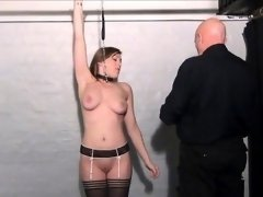 Teen slave Taylor Hearts nipple clamps