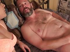 Kimber Woods fucks in front of her cuckold