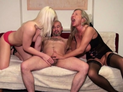 German Wife Suprise His Husband with cute Teen in Threesome