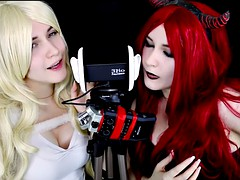 asmr twin angel demon