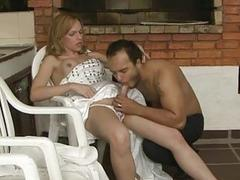 Shemale fucks her hubby after the wedding ceremony is over