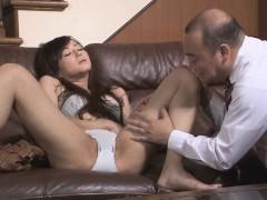 Sexy slut teases mature lad