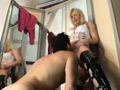 Sexy blonde milf fucked in all her holes