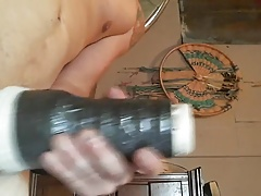 Horny young guy get a off with his fleshlight