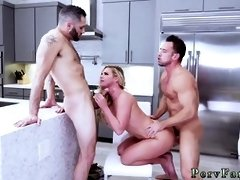 Big tit milf is fucked by two guys