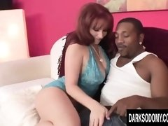 Mature ginger-haired, Kylie Ireland got a XXL, ebony lollipop up her butt, until she came