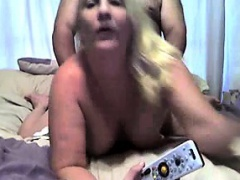 Mom and dad make an amateur porn fuck tape