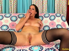 Wanton MILF Fingers Her Slot and Fucks a Guy Silly
