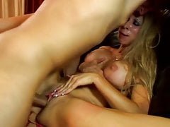Awasome Blonde MILF love monster cock