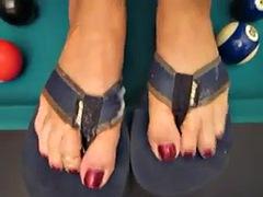 cum on flip flop toes