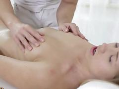 Delicious hot blonde enjoys fucking her masseur