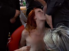 redhead lady mona wales is ready to become a public whore