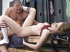 Sporty slut sex in the locker room