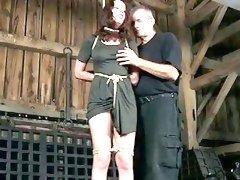 Poor girl Tricia Oaks punished with creepy bondage session BDSM