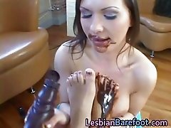 Lesbians Lick each other covered part6