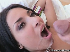 Hot French student Annisa gets fucked and receives a messy facial