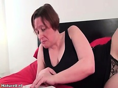 Fat granny gets kinky while riding porn