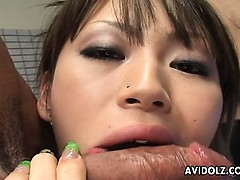 Delicious Japanese babe Yuu Kawano enjoys a nasty orgy