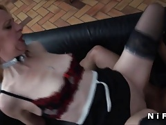 French milf gets a black cock in her ass