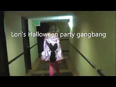 Hot Lori's Halloween Party Gangbang